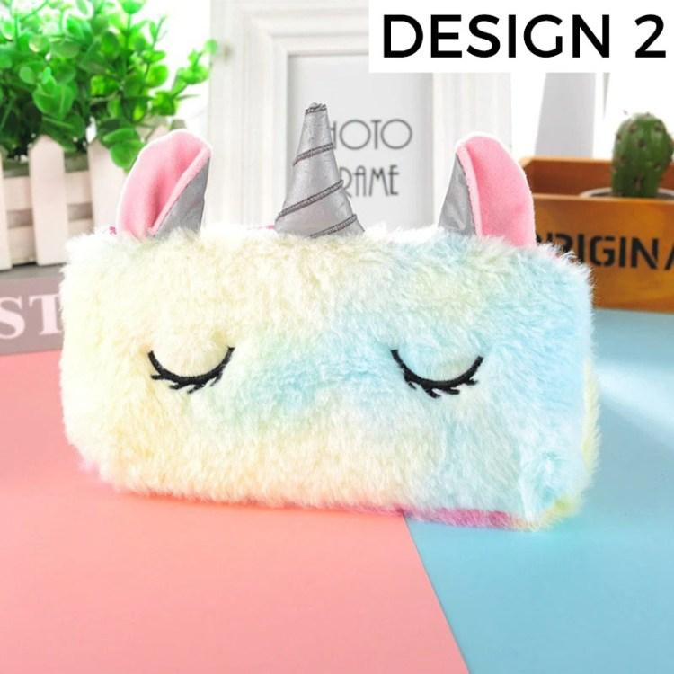 stress release cute unicorn pencil case