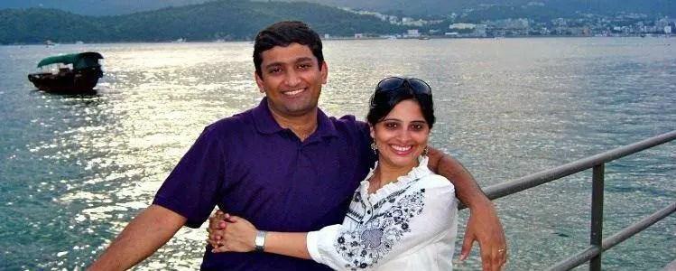 Meenakshi with husband