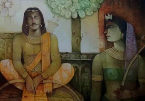 Chitrangada painting