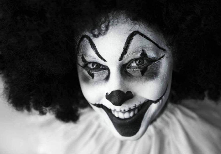 Clown with painted face
