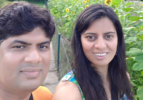 trishna with her husband