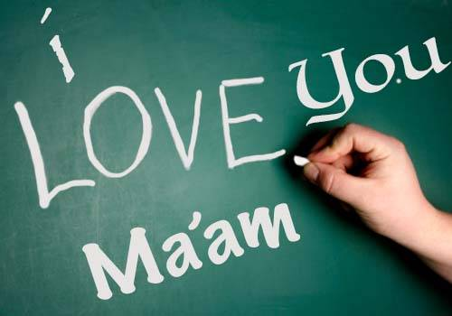 love u ma'am