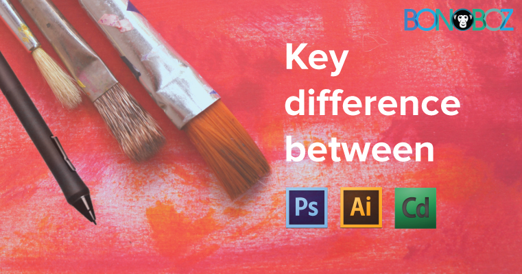 difference between, photoshop, coral draw, Illustrator