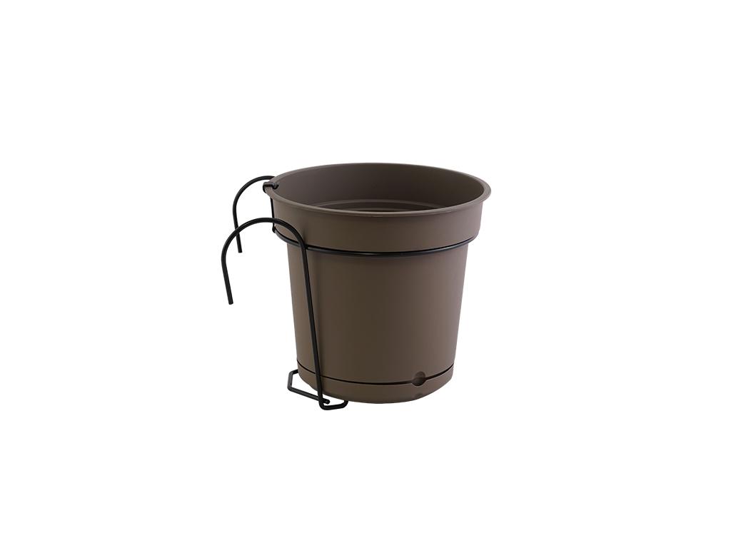 Balconiera vaso tondo ad incastro