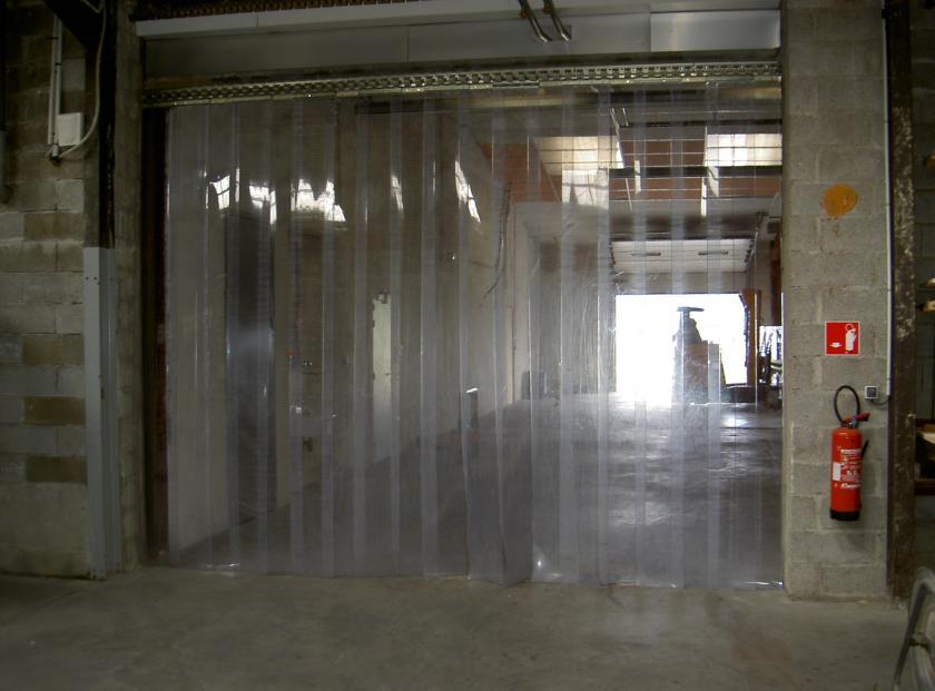 rideau de chambre froide en plastique