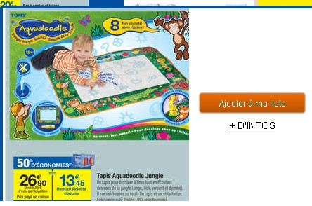 jouets tapis aquadoodle jungle a 13 45 euros