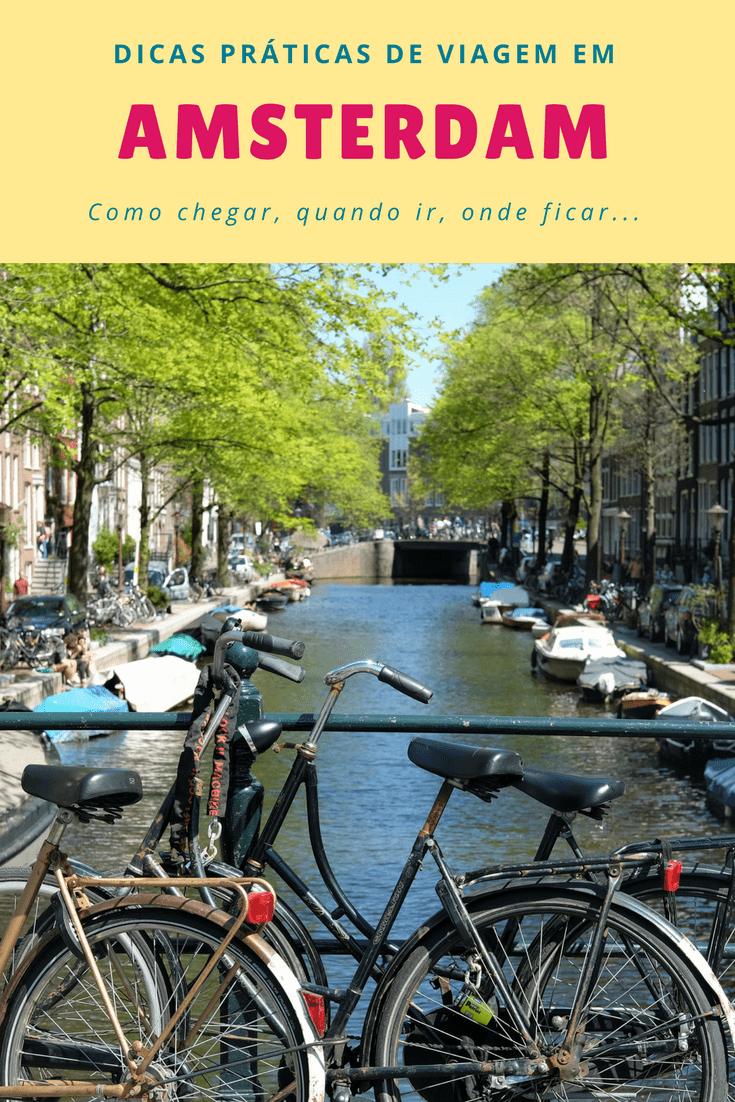 dicas práticas de viagem em Amsterdam