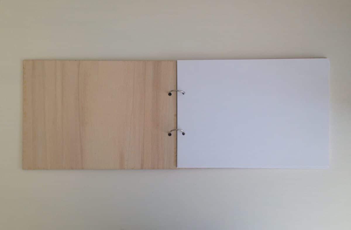 houten herinnerboek a4