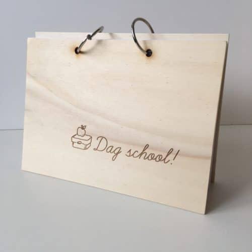 houten dag school boek afscheid school boek