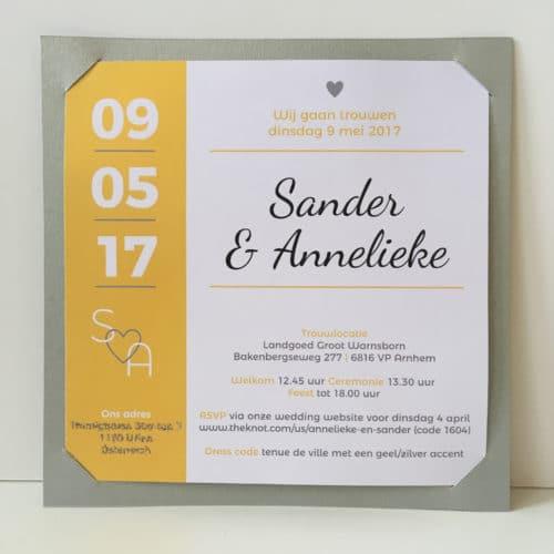 trouwkaart uitnodiging