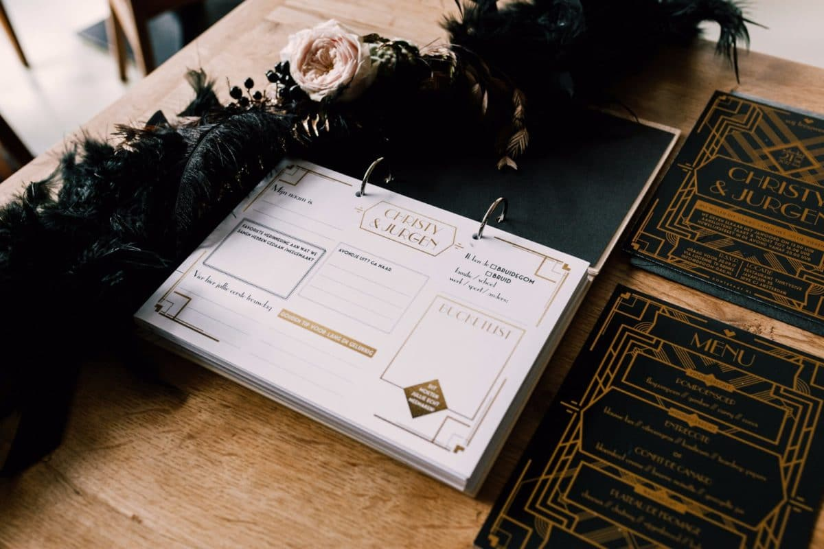 Great Gatsby wedding gastenboek