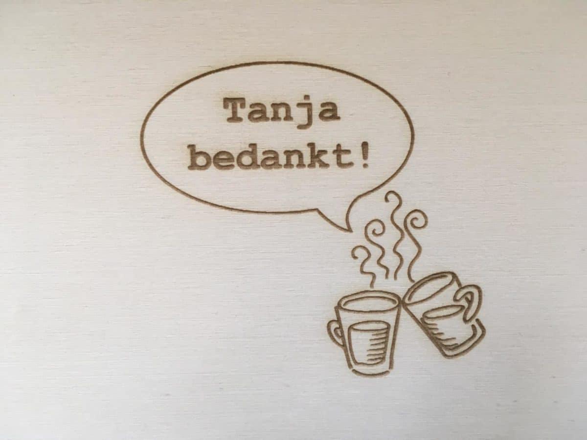 afscheidsboek collega bedankt koffie