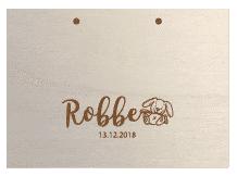 gepersonaliseerd houten kraamboek