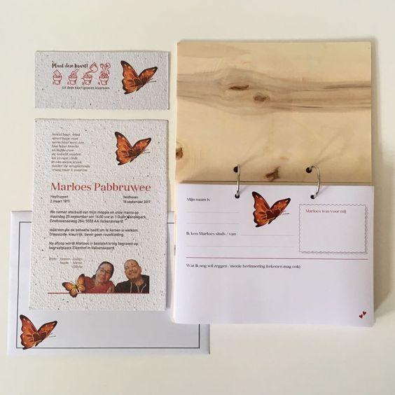 condoleanceboek rouwkaart groeipapier
