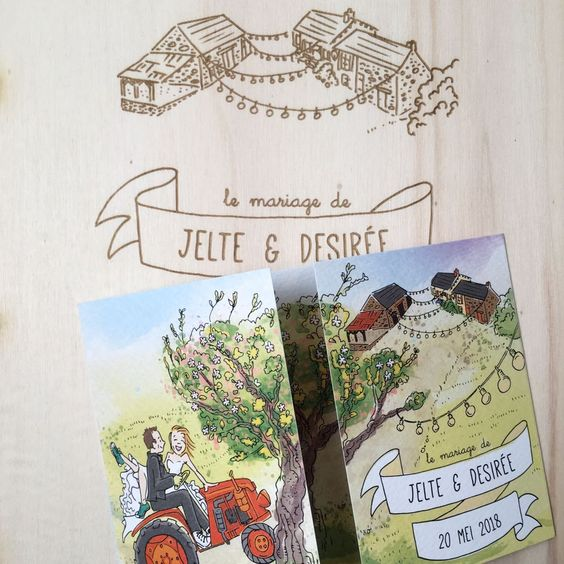 trouwkaart gastenboek