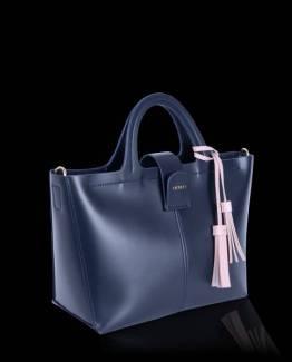 Iris top handle bag midnight blue Inyati
