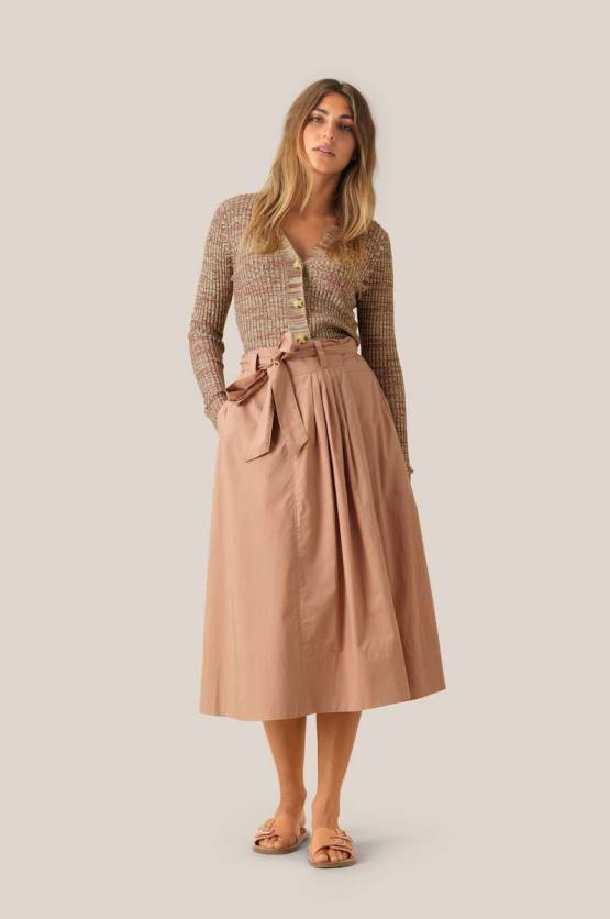 Phoebe hw wrap skirt praline Second Female