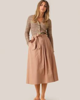 Phoebe hw wrap skirt praline Second Female