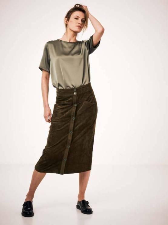 Aurora skirt green Knit-ted