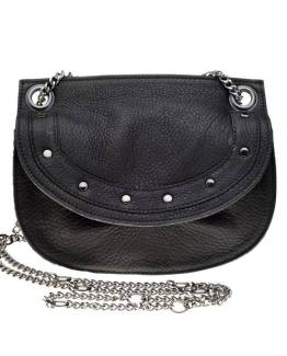 Emilie chain bag suede black Elvy