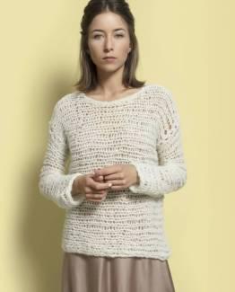 Pina ecru Inti handmade knitwear