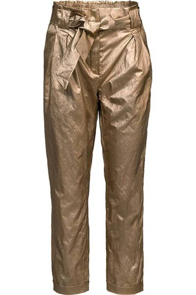 Trousers gold coated champagne Summum