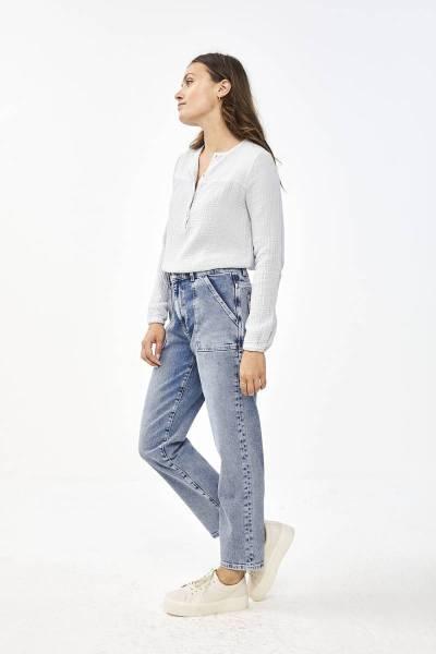 Doppia blouse illu grey By-Bar Amsterdam