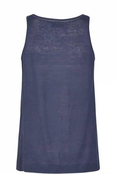 Lavi linen knit tank vintage indigo Mos Mosh