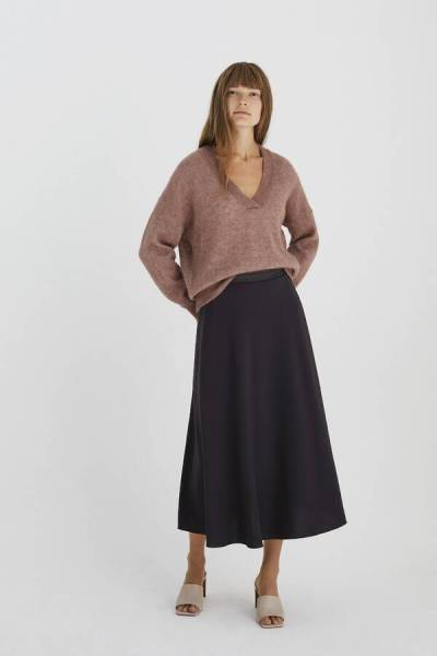 Swan skirt smokey brown Zenggi