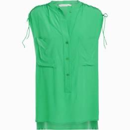 Top sleeveless leaf green Summum