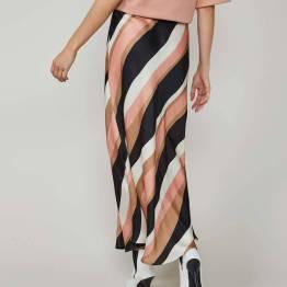 Skirt wavy stripes multicolour Summum