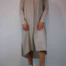 Button down dress sand Aimee