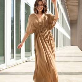 Long dress dry khaki By Bar