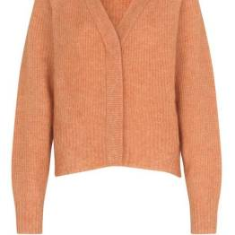 Brooky knit boxy cardigan toasted Second Female