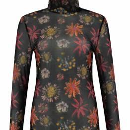 Flower love black turtleneck Pom Amsterdam
