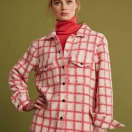 Checks hot pink jacket Pom Amsterdam