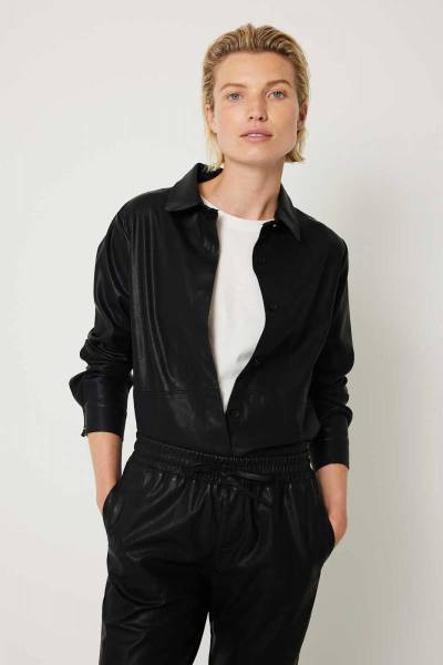Puck blouse black Knit-ted