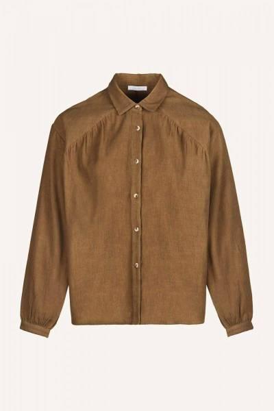 Lola cord blouse dry khaki By Bar