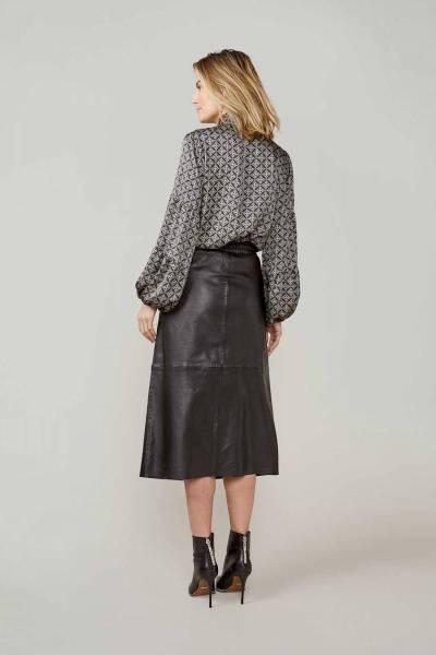 Bow tie blouse allover print viscose multi Summum