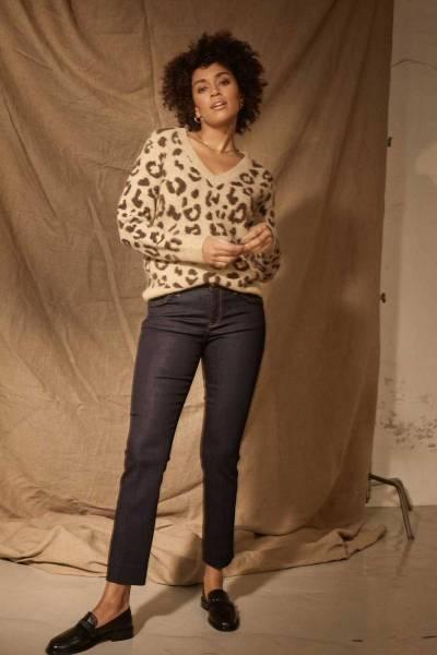 Ashley braid hybrid jeans dark blue,ankle Mos Mosh