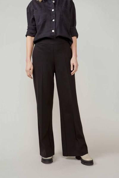 Trousers boot cut punto milano black Summum