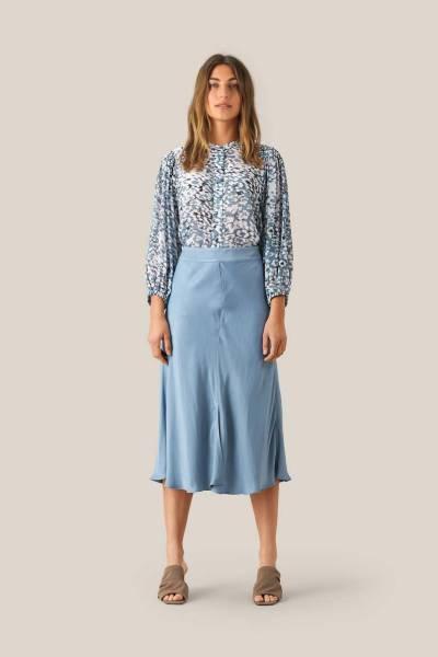 Eddy new mw midi skirt faded denim Second Female