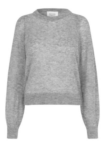 Nawal knit O-neck grey melange Second Female