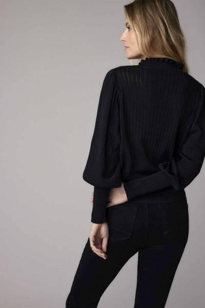 Balloon sleeves sweater black Summum
