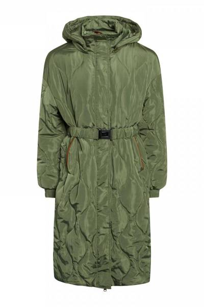 Aktis quilt coat silver green Co'Couture