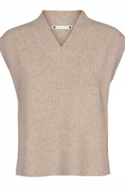 Anisa vest knit bone Co'Couture