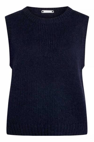Leona knit vest navy Co'Couture