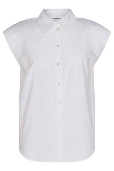 Yates boxy shoulder shirt white Co'Couture