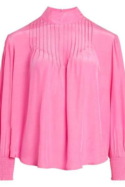 Callum pintuck shirt pink Co'Couture