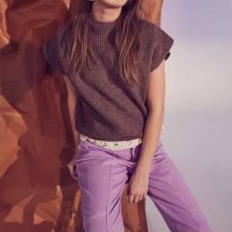 Zora flash jeans purple Co'Couture